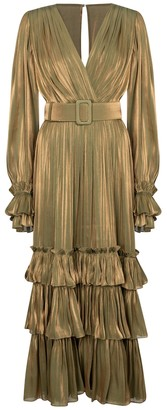 Costarellos Oliva ruffled midi dress