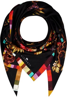 Klements Giant Square Scarf In Opium Print