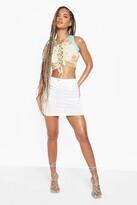 Thumbnail for your product : boohoo Space Dye Stripe Tube Print Mini Skirt