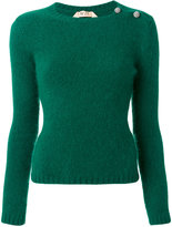 No.21 button detail textured sweater