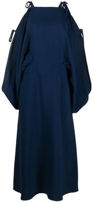 Prada Tie Detail Midi Dress