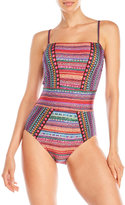 Gottex Nefertiti Bandeau One-Piece Swimsuit