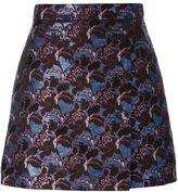 MSGM jacquard straight short skirt