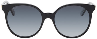Gucci Black Round Sunglasses