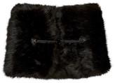 Carven Black Faux-Fur Collar