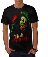 Marley Bob Weed Rasta Reggae Hero Men XXXL T-shirt   Wellcoda