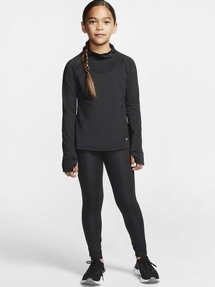 Nike Girls Train Studio Leggings - Black/White