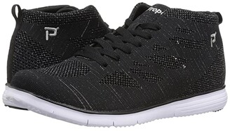 Propet TravelFit Hi (Black Metallic) Women's Shoes