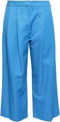 ADAM by Adam Lippes Cropped Pleated Wool-blend Twill Wide-leg Pants