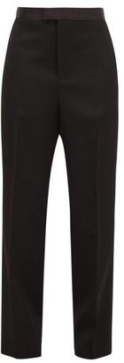 Bottega Veneta Wide-leg Satin-striped Wool Tuxedo Trousers - Womens - Black
