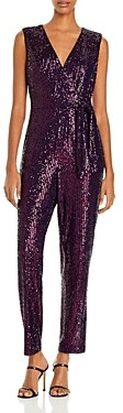 Milly Metallic Micro-Stretch Jumpsuit
