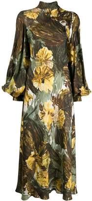 Cavallini Erika floral print flared dress