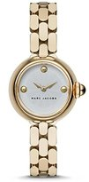 Marc by Marc Jacobs Marc Jacobs Women's Gold Tone Steel Bracelet & Case Quartz Silver-Tone Dial Analog Watch MJ3457