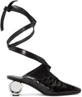 J.W.Anderson Black Cylinder Heel Ballet Mules