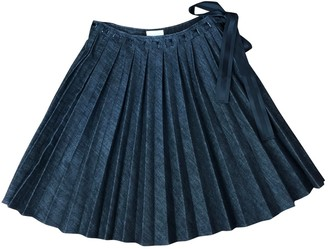 Valentino Grey Cotton Skirt for Women Vintage