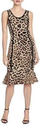 Rachel Roy Leopard-Print Knee-Length Dress