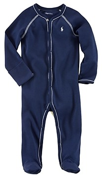 Ralph Lauren Boys' Layette Solid Footie - Baby