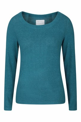 Mountain Warehouse Womens Round Neck Top - Lightweight Ladies Tee Relaxed Fit Cosy - Best for Travelling Camping Holidays