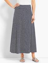 Talbots Casual Jersey Maxi Skirt - Faded Geo