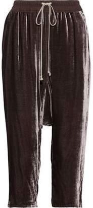 Rick Owens Cropped Velvet Harem Pants