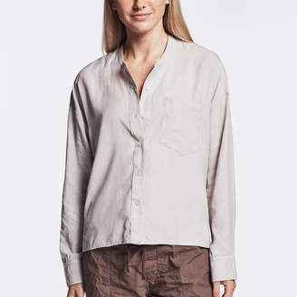 James Perse COLLARLESS SUEDED SHIRT