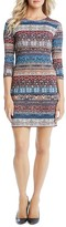 Karen Kane Boho Print Sheath Dress