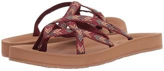 Minnetonka Hanna (Brown/Tan Multi Fabric) Women's Sandals