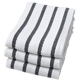 Now Designs Basketweave Kitchen Towel, Set of 3, Black by