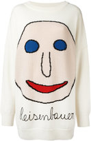 Christopher Kane intarsia face sweater - men - Cotton/Polyamide/Mohair/Virgin Wool - 54