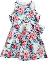 Helena Floral Taffeta Sleeveless Dress, Size 2-6