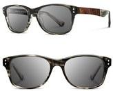 Shwood Men's 'Cannon' 54Mm Sunglasses - Black/ Elm Bur/ Grey