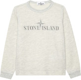 Stone Island Logo front cotton-blend jumper
