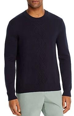 The Men's Store at Bloomingdale's Cotton-Blend Argyle Classic Fit Crewneck Sweater - 100% Exclusive