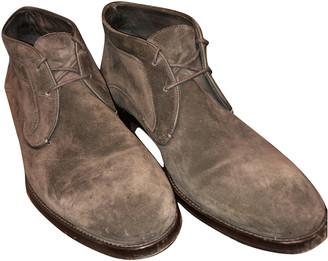John Varvatos Brown Suede Boots