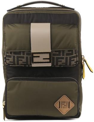 Fendi Green Nylon Baguette Backpack