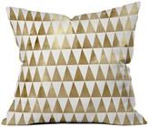DENY Designs Georgiana Paraschiv Triangle Pattern Gold Throw Pillow - 16 x 16