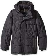 Tommy Hilfiger Men's Tall Size Nylon Two Pocket Hooded Puffer Jacket