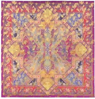 Etro Floral silk-brocade scarf