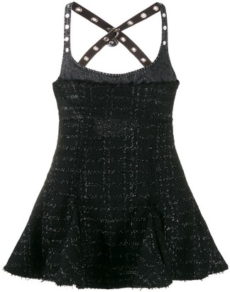Diesel Tweed Flared Mini Dress