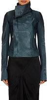 Rick Owens Women's Calf Hair Biker Jacket-BLUE, TURQUOISE
