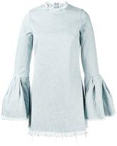 Marques Almeida Marques'almeida - denim bell sleeve mini dress - women - Cotton - M
