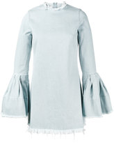 Marques Almeida Marques'almeida - denim bell sleeve mini dress - women - Cotton - XS