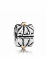 Pandora Clip - Sterling Silver and 14K Gold Sunburst, Moments Collection