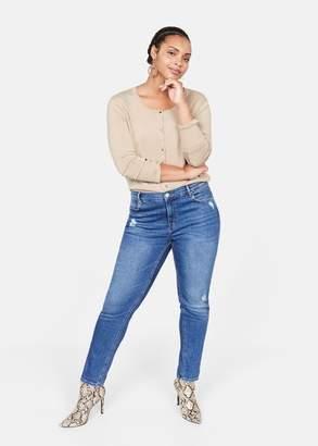 MANGO Violeta BY Fine-knit cardigan beige - XS - Plus sizes