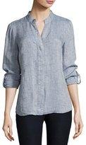 Nic+Zoe Drifty Linen Button-Front Top, Plus Size