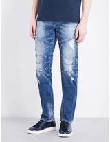 True Religion Geno Biker-detail Slim-fit Tapered Jeans