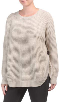 Lauren Waffle Stitch Round Hem Sweater