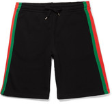 Gucci Striped Loopback Cotton-Jersey Shorts