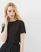 Ted Baker Scallop trim cropped top