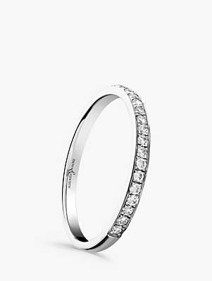Brown & Newirth Platinum Diamond Half Eternity Ring, 0.15ct